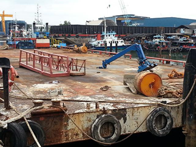 180 Feet Barge